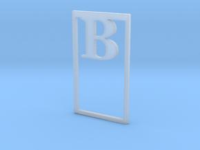 Bookmark Monogram. Initial / Letter  B  in Smooth Fine Detail Plastic