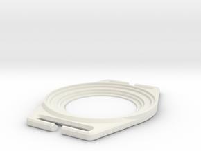 Lens Cap Holder - Lens Cap Holder V3 in White Strong & Flexible
