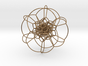 120-cell stereographic, small in Natural Brass