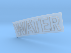 WATER in Smooth Fine Detail Plastic