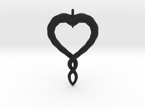 Twisted Heart New in Black Natural Versatile Plastic