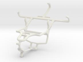 Controller mount for PS4 & Gigabyte GSmart T4 (Lit in White Natural Versatile Plastic