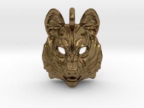 Siberian Husky Small Pendant in Natural Bronze