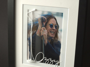 Ozzy Osbourne for photo frame in White Strong & Flexible Polished