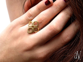 FlowER Ring in Natural Brass: 8 / 56.75