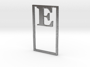 Bookmark Monogram. Initial / Letter  E  in Natural Silver