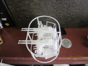 1/72 40mm Bofors Quad Mount USN WWII ships square in Frosted Ultra Detail
