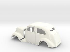 1/16 1949 Anglia Full Body Tilt Front in White Processed Versatile Plastic