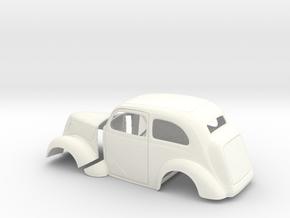 1/25 1949 Anglia Full Body Tilt Front in White Processed Versatile Plastic