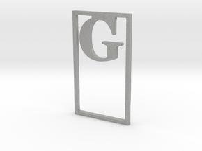 Bookmark Monogram. Initial / Letter G  in Aluminum