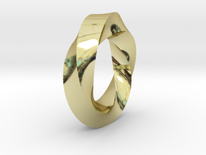 Mobius Strip in 18K Gold Plated