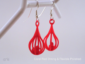 Ducklings - Earrings in Red Processed Versatile Plastic