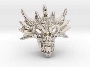 Aegis Dragon Small Pendant in Platinum