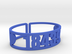 Ramah Zip Cuff in Blue Processed Versatile Plastic