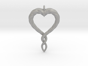 Twisted Heart New in Aluminum