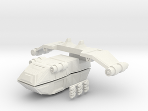 Gator Gunship in White Natural Versatile Plastic