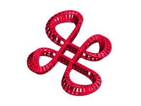 Mesh Loop in Red Processed Versatile Plastic