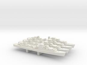 Le Corse-class Frigate x 4, 1/1800 in White Natural Versatile Plastic