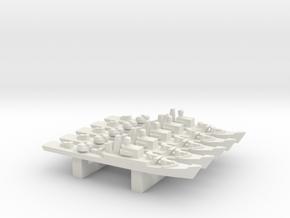 Riga-class frigate x 5, 1/3000 in White Natural Versatile Plastic