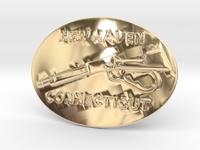 Winchester Belt Buckle in 14K Yellow Gold