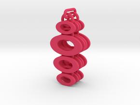 Linked Oval Dangle Earrings in Pink Processed Versatile Plastic