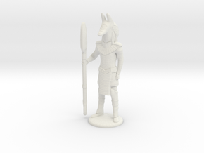 Jackal Guard At Attention - 25 mm scale in White Strong & Flexible