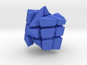 Spectre Cube in Blue Processed Versatile Plastic