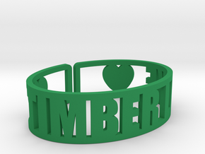 Timber Lake Cuff in Green Processed Versatile Plastic
