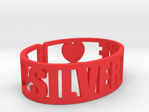 Silver Lake Cuff in Red Processed Versatile Plastic