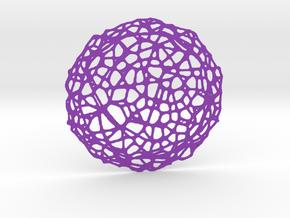 Drink coaster - Voronoi #5 (9 cm) in Purple Processed Versatile Plastic