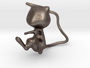 Mew in Polished Bronzed Silver Steel