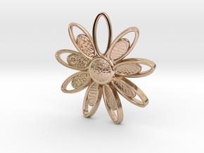 Spring Blossom 3 - Pendant in 14k Rose Gold Plated Brass