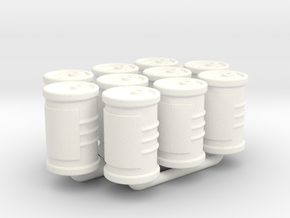 Food Cans tokens (10pcs) in White Strong & Flexible Polished
