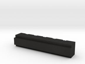 Grid Box Body in Black Acrylic