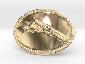 Colt Dragoon Belt Buckle in 14K Yellow Gold