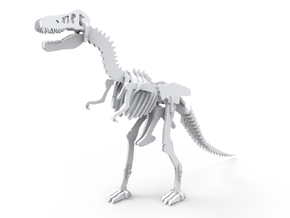 T-Rex 3D Model (miniature 7cm) in White Natural Versatile Plastic