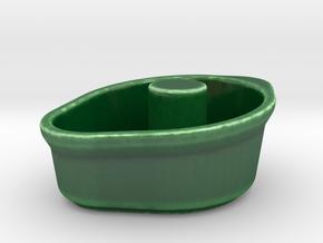 CRACKBLOCK Eggs Open Easy in Gloss Oribe Green Porcelain