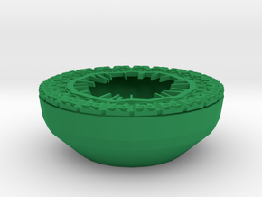Pot parts for Guardians Galaxy Outside-Shell in Green Processed Versatile Plastic