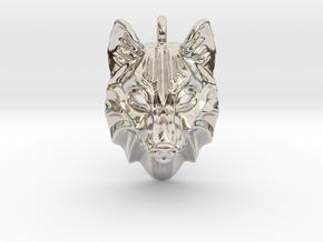 Timber Wolf Pendant in Platinum