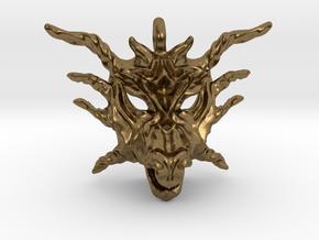 Sunlight Dragon Pendant in Natural Bronze