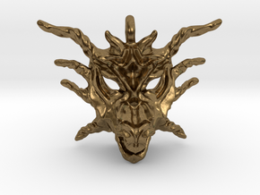 Sunlight Dragon Small Pendant in Natural Bronze