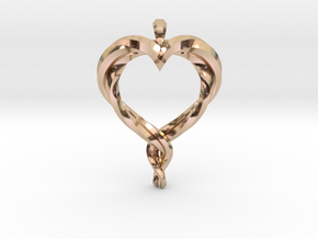 Twisted Heart in 14k Rose Gold Plated Brass