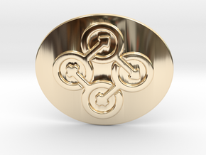 Circle Of Life Belt Buckle in 14K Yellow Gold