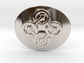 Circle Of Life Belt Buckle in Rhodium Plated Brass