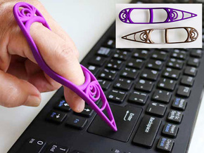 Finger Input Device (M size) in Purple Processed Versatile Plastic: Medium