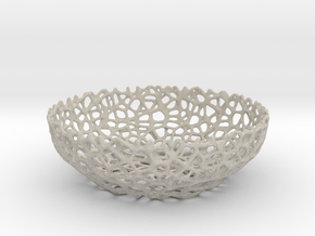 Voronoi bowl (20 cm) - Style #8 in Natural Sandstone