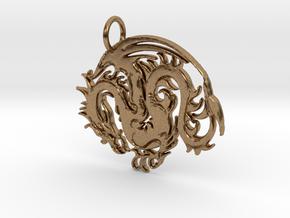 Biblical Pendant in Natural Brass