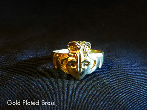 NOLA Claddagh, Ring Size 12 in White Strong & Flexible