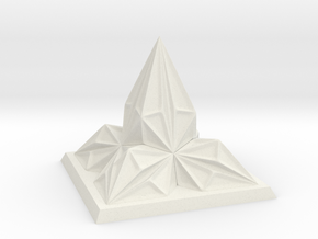 Pyramid Arcology in White Natural Versatile Plastic