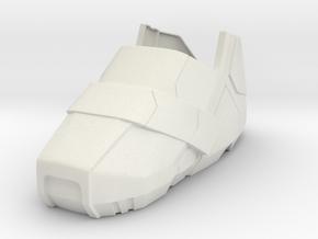 Shoe Right in White Natural Versatile Plastic